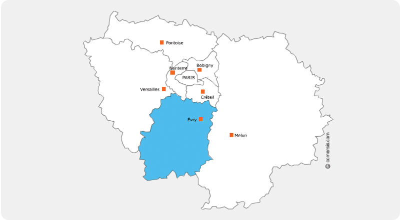 carte région ile de france